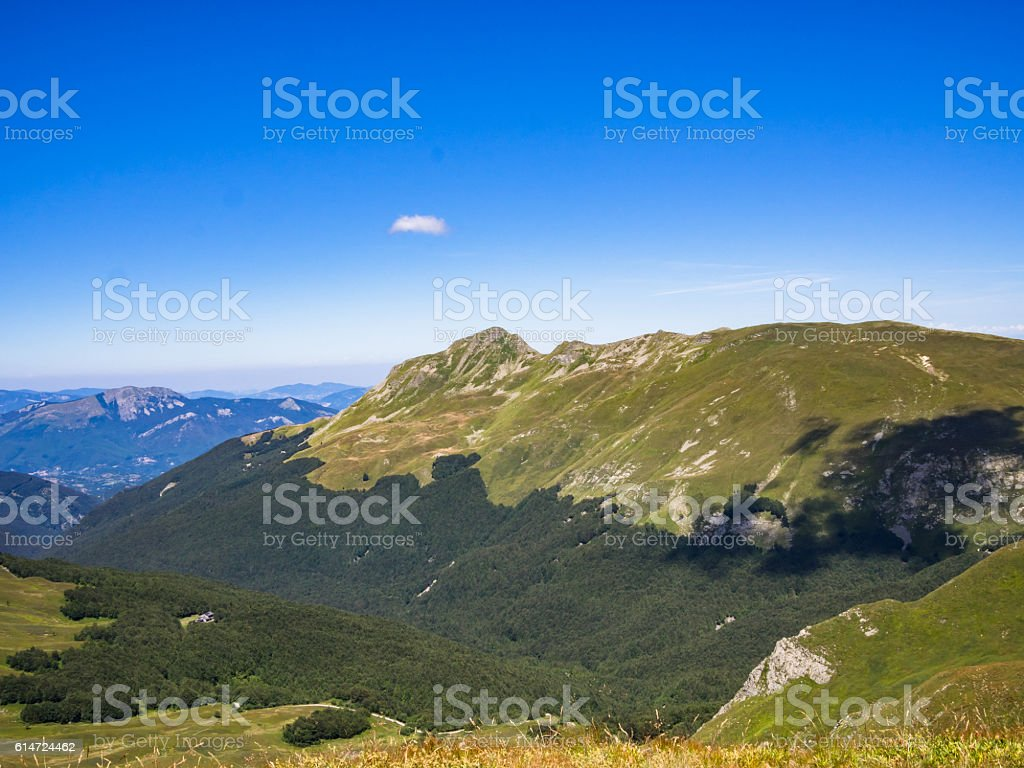 Top of the mountain in summer - foto stock