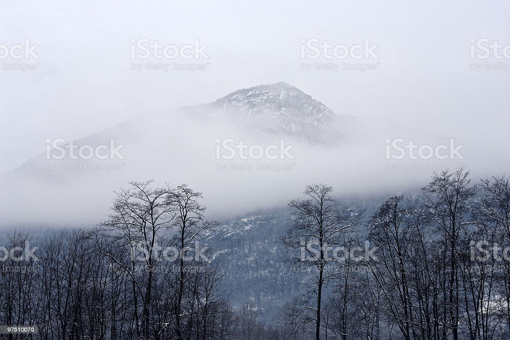 top of the mountain royalty-free stock photo
