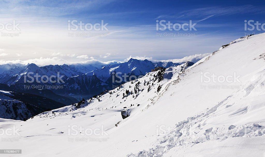 Top of the Mountains Ski time royalty-free stock photo