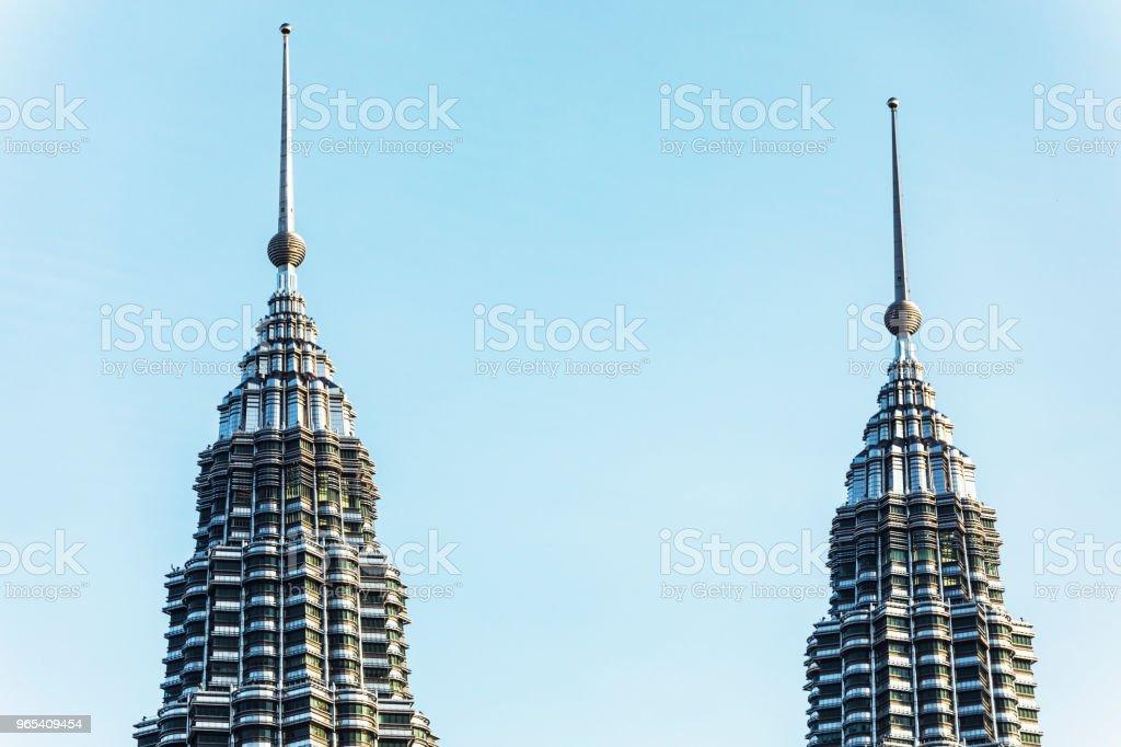 Sommet des tours Petronas - Photo de Affaires libre de droits