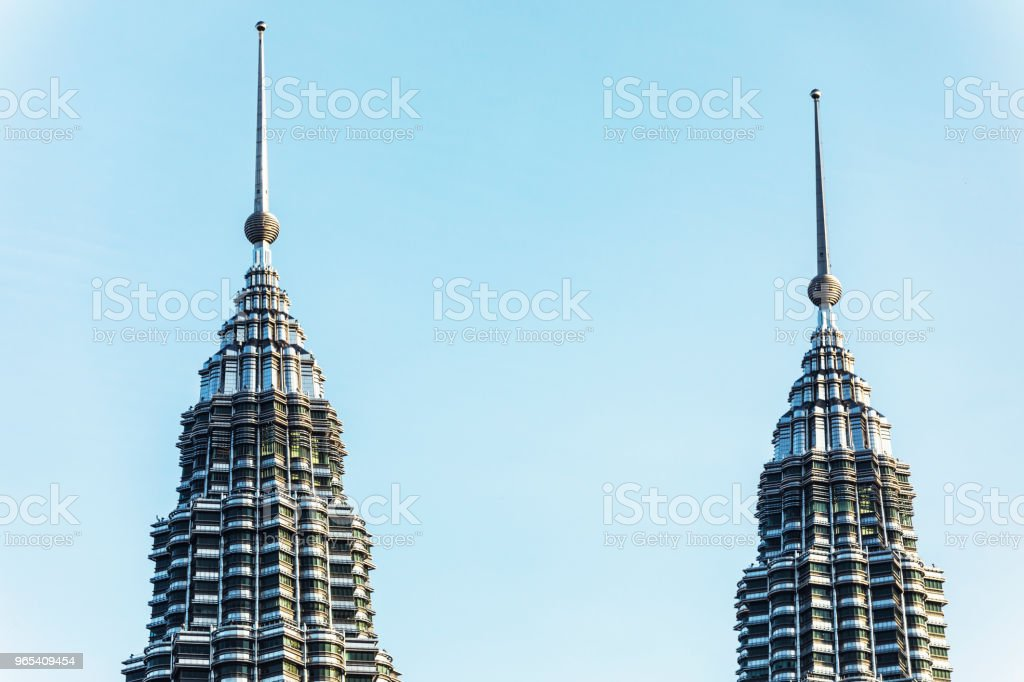 Top of the Petronas Towers stock photo