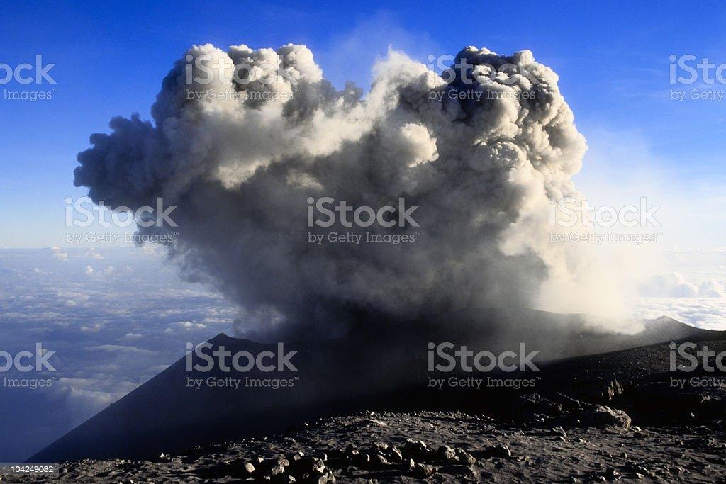 Top of the Semeru volcano royalty-free stock photo