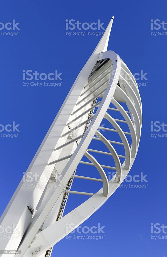 Top of the Spinnaker Tower stock photo