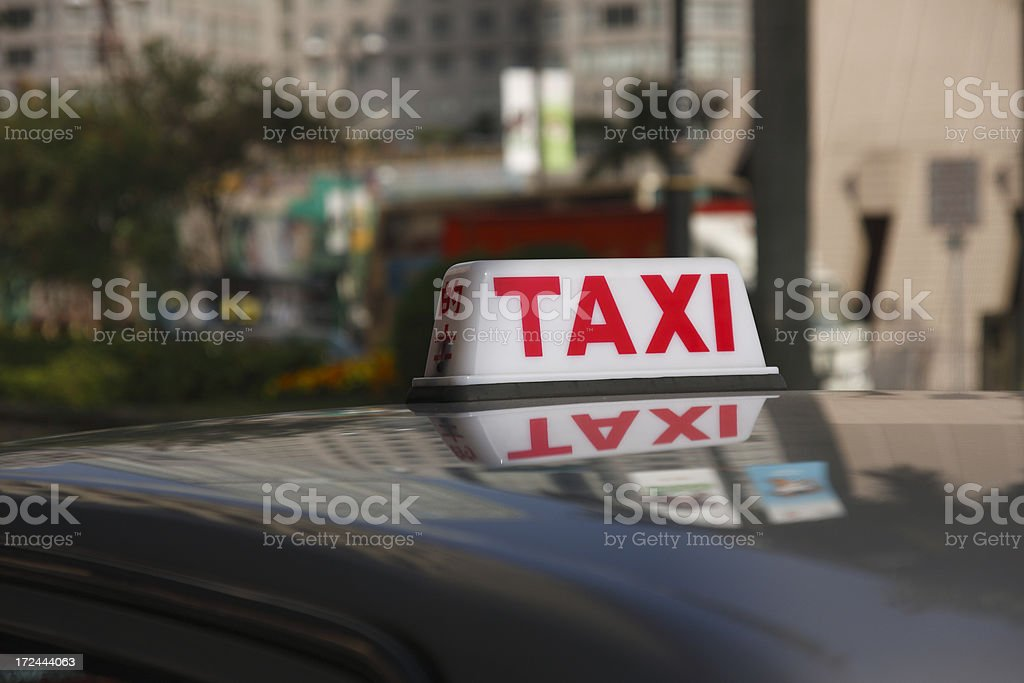 Top of the Taxi stock photo