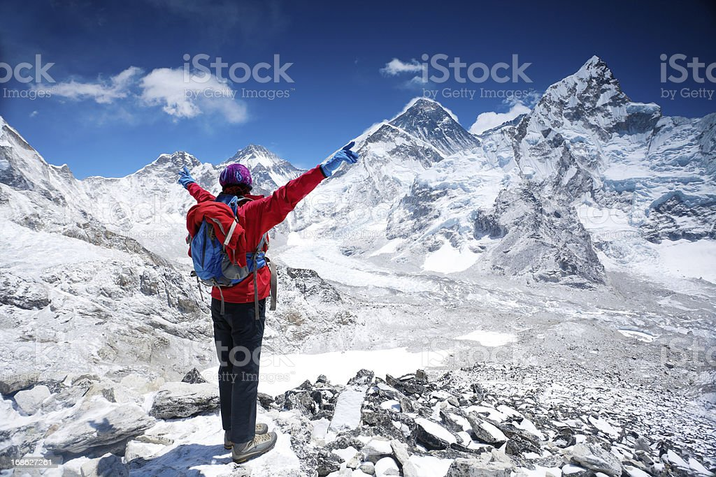 Top of the world stock photo