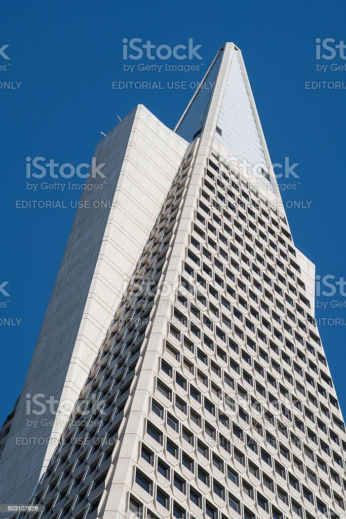 Top of Transamerica Pyramid stock photo