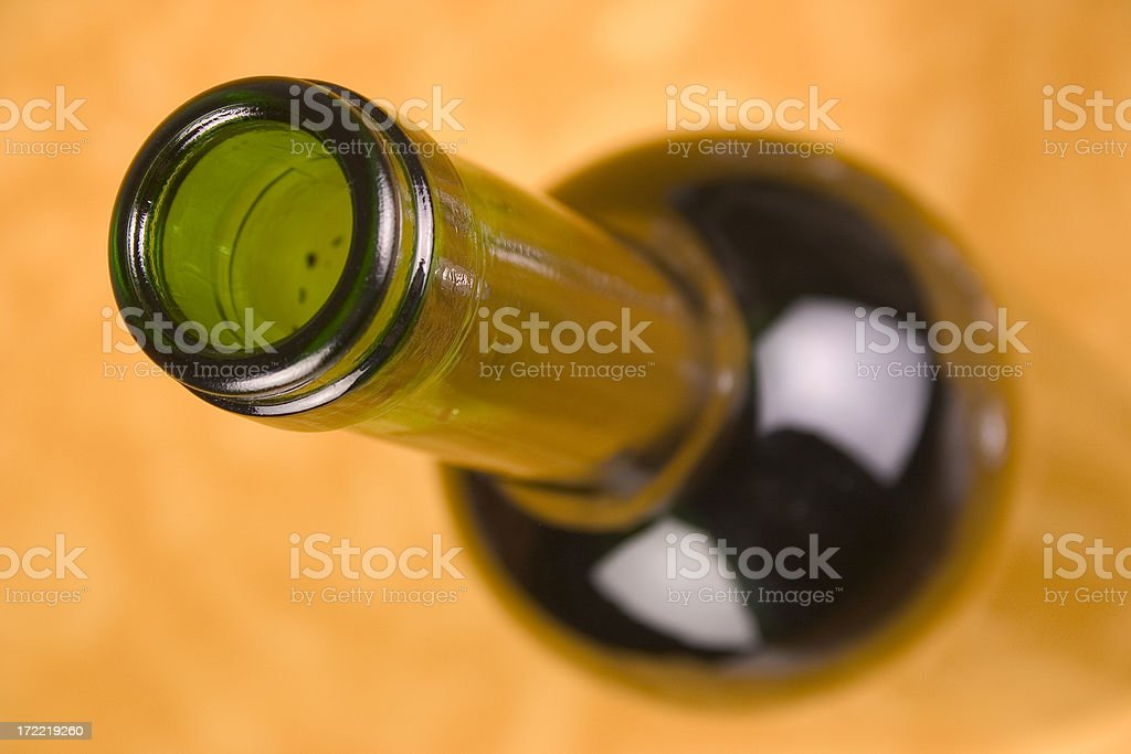 Top of wine bottle royalty-free stock photo