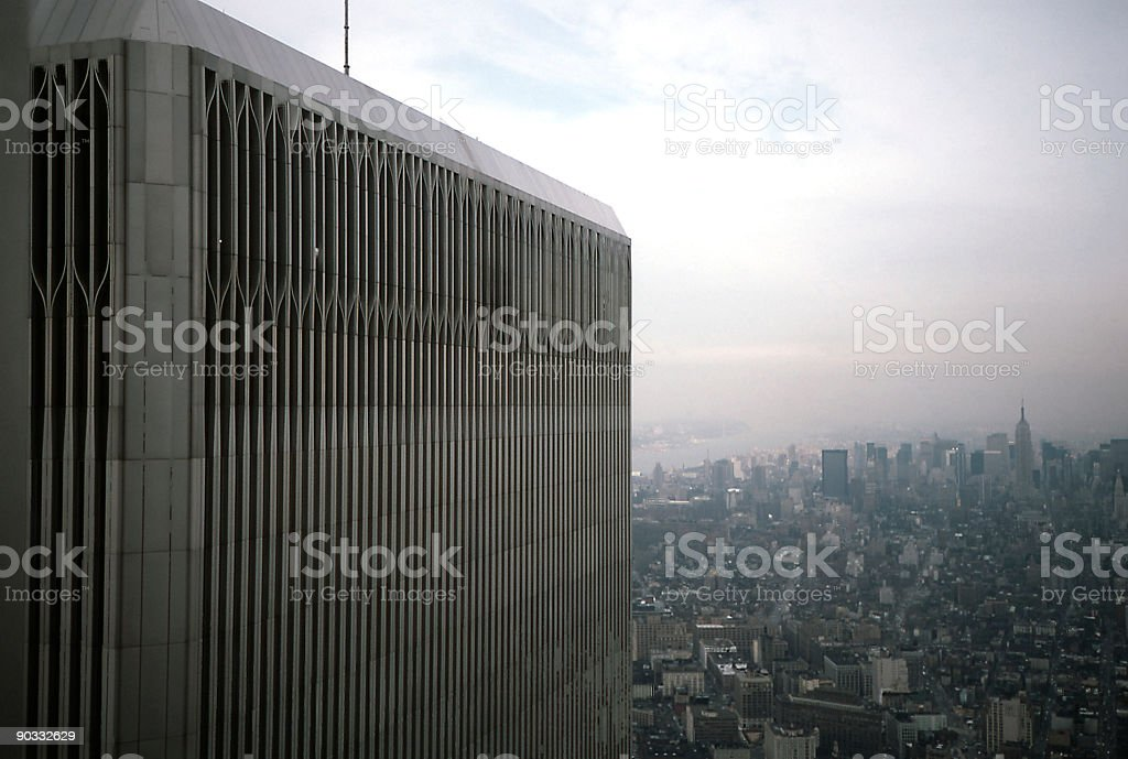 Top of World Trade Center stock photo