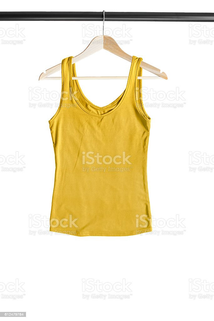 Top on clothes rack stock photo