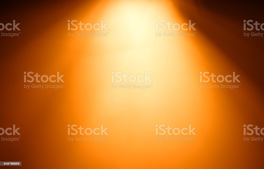 Top orange ray of light bokeh background - foto stock
