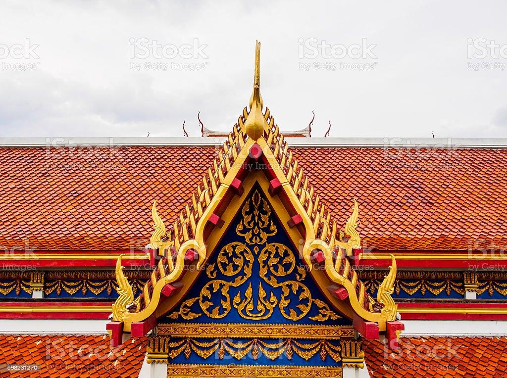 Top parte da arquitetura em estilo tailandês foto royalty-free