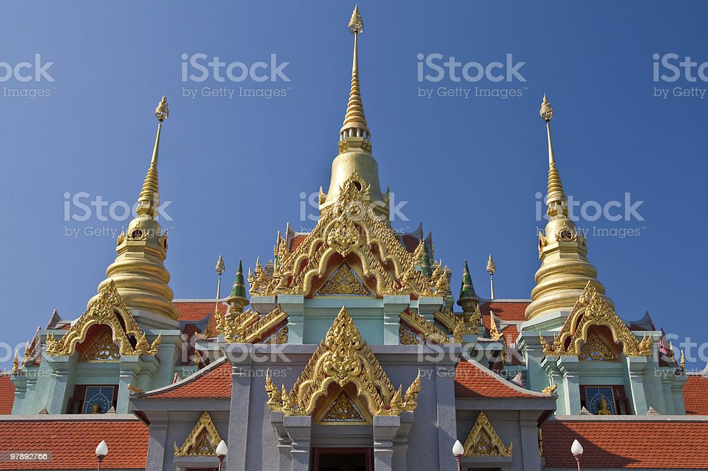 Top part of Thai style architecture royalty-free stock photo