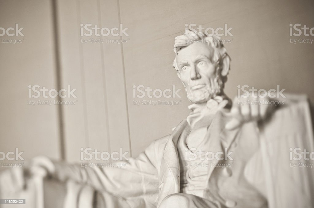 Top portion of the Lincoln Memorial stock photo