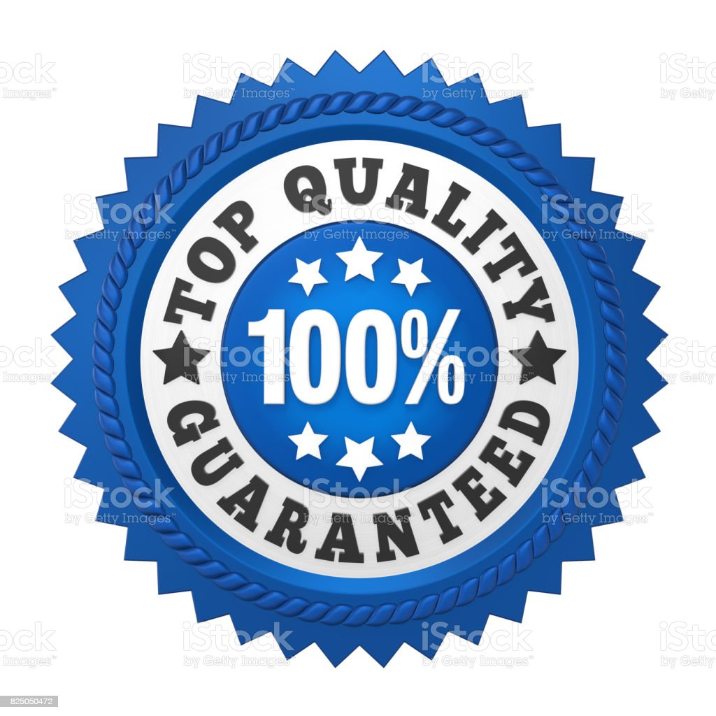 Top Quality Guaranteed Label Isolated stock photo