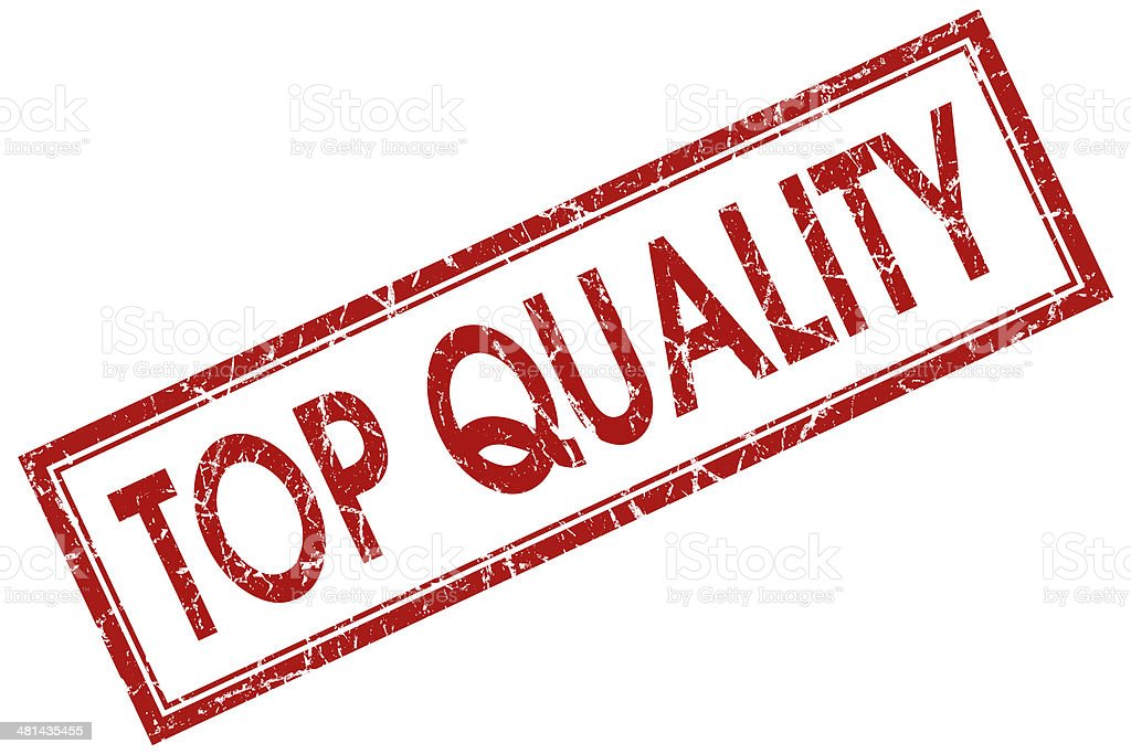 top quality red square stamp stock photo