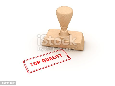 istock Top Quality Rubber Stamp - 3D Rendering 895643684