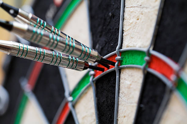 Top Score in Darts - 180 Points stock photo