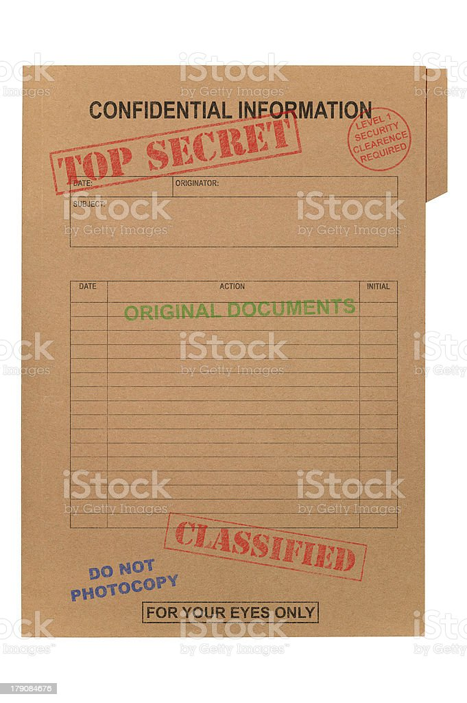 Top Secret Confidential file stock photo