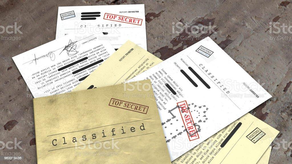 Top-geheimes Dokument freigegeben, vertrauliche Informationen, geheime text – Foto