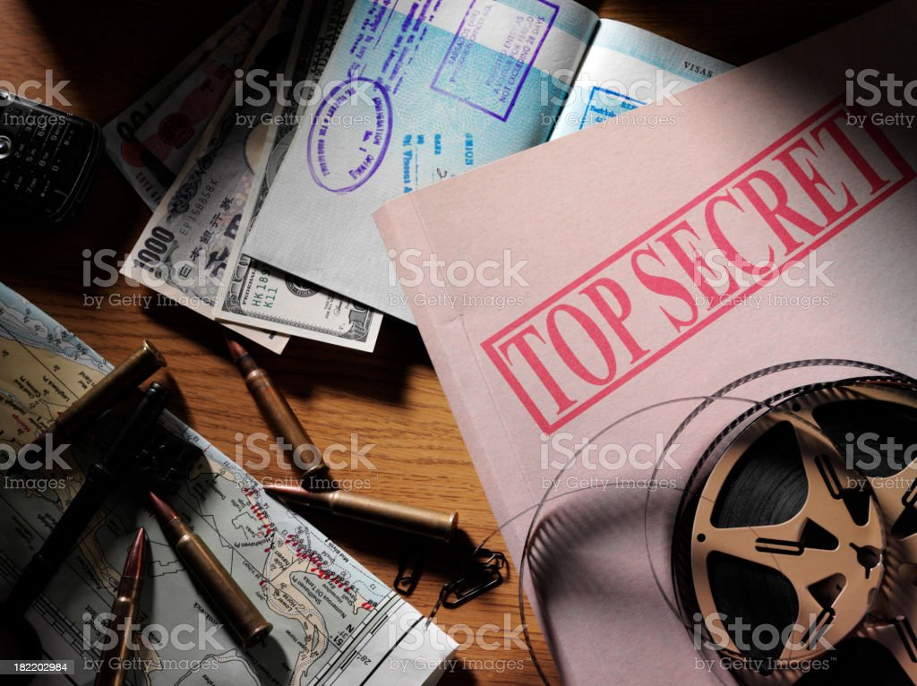 Top Secret Document in a Office stock photo