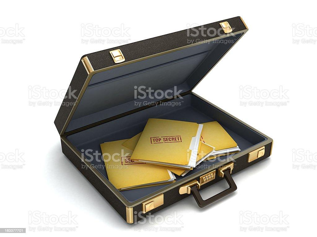 Top secret documents royalty-free stock photo