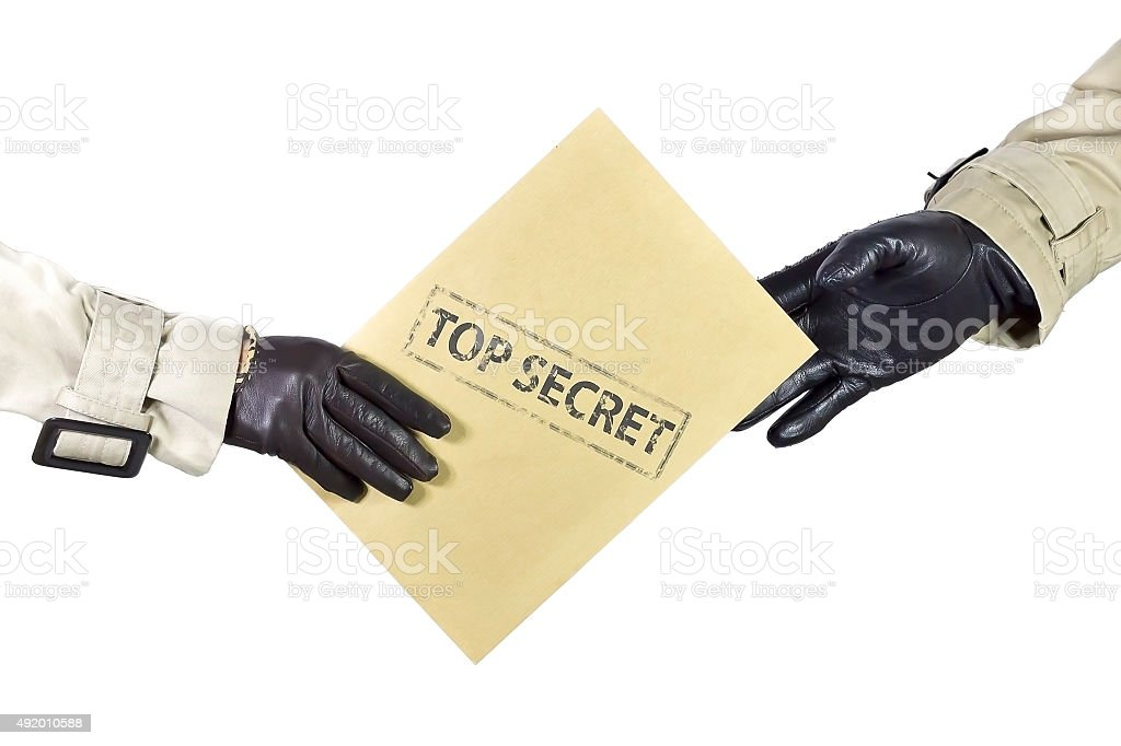 Top secret documents stock photo