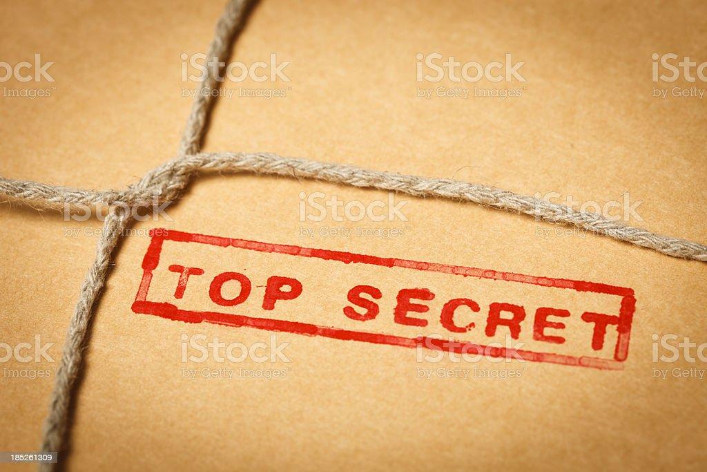 Top secret envelope royalty-free stock photo