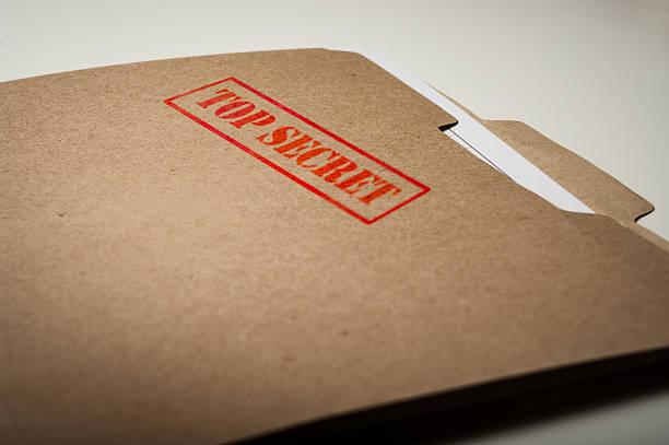 Top Secret file folder stock photo