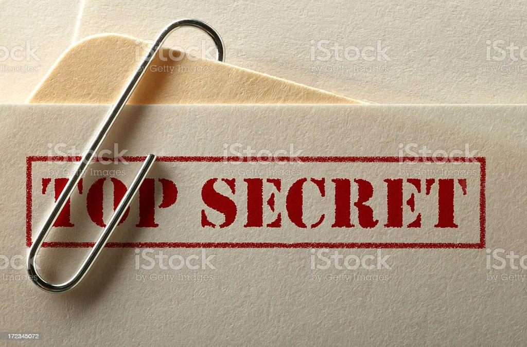 Top Secret File stock photo