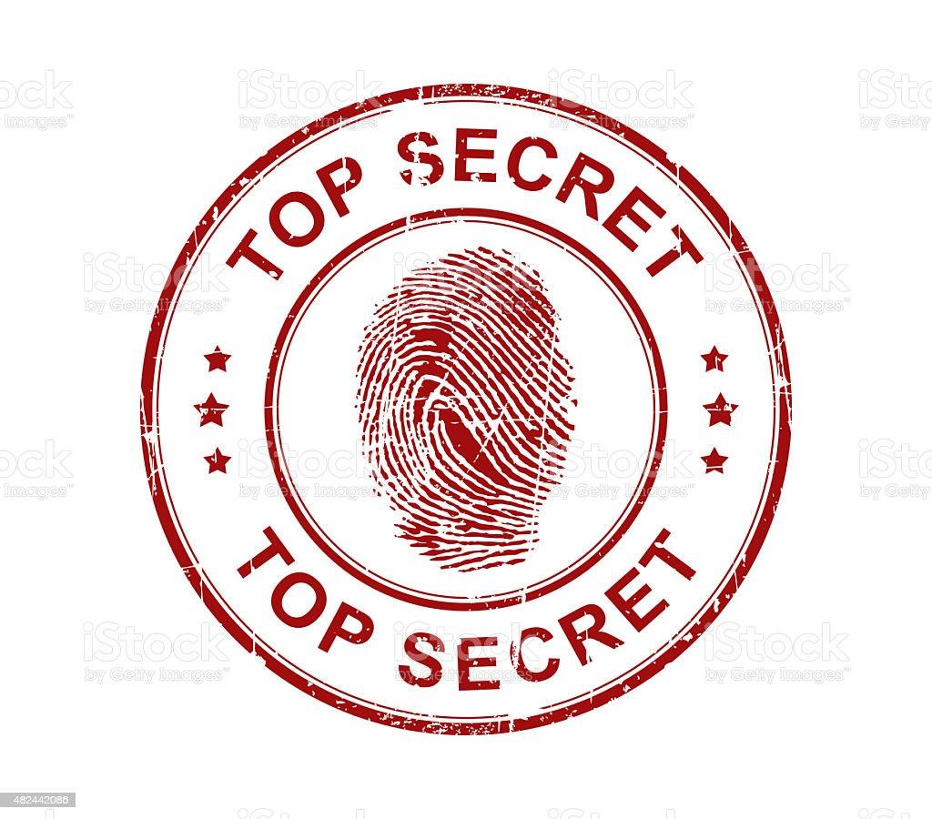 Top Secret Fingerprint Stamp Stock Photo More Pictures Of 2015