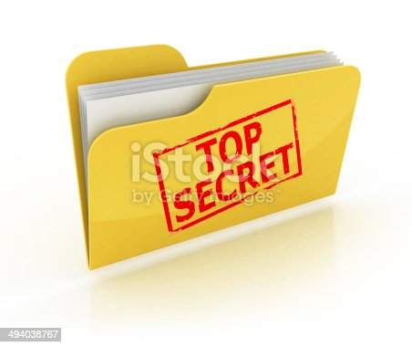 istock top secret folder icon over the white background 494038767