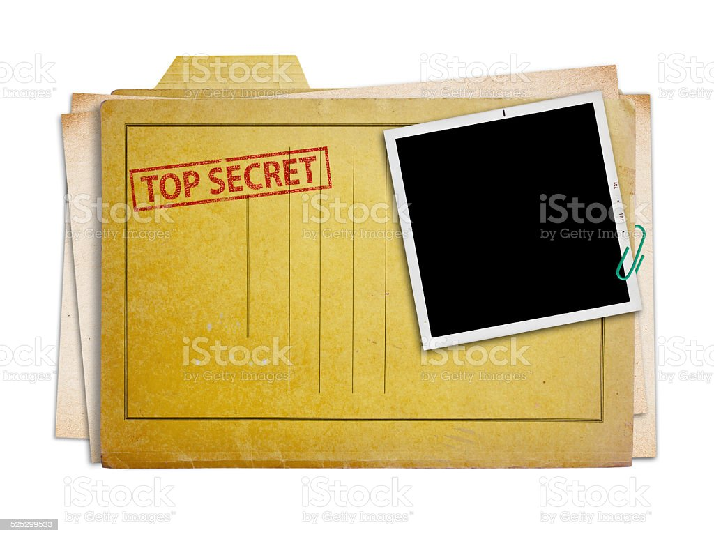 top secret folder isolated stock photo