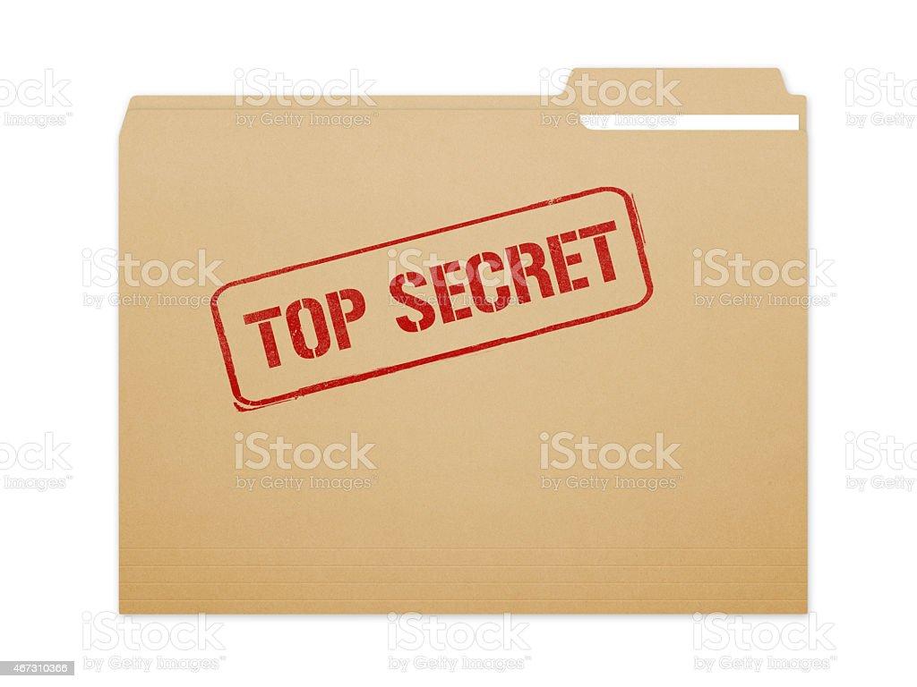 Top Secret Folder stock photo