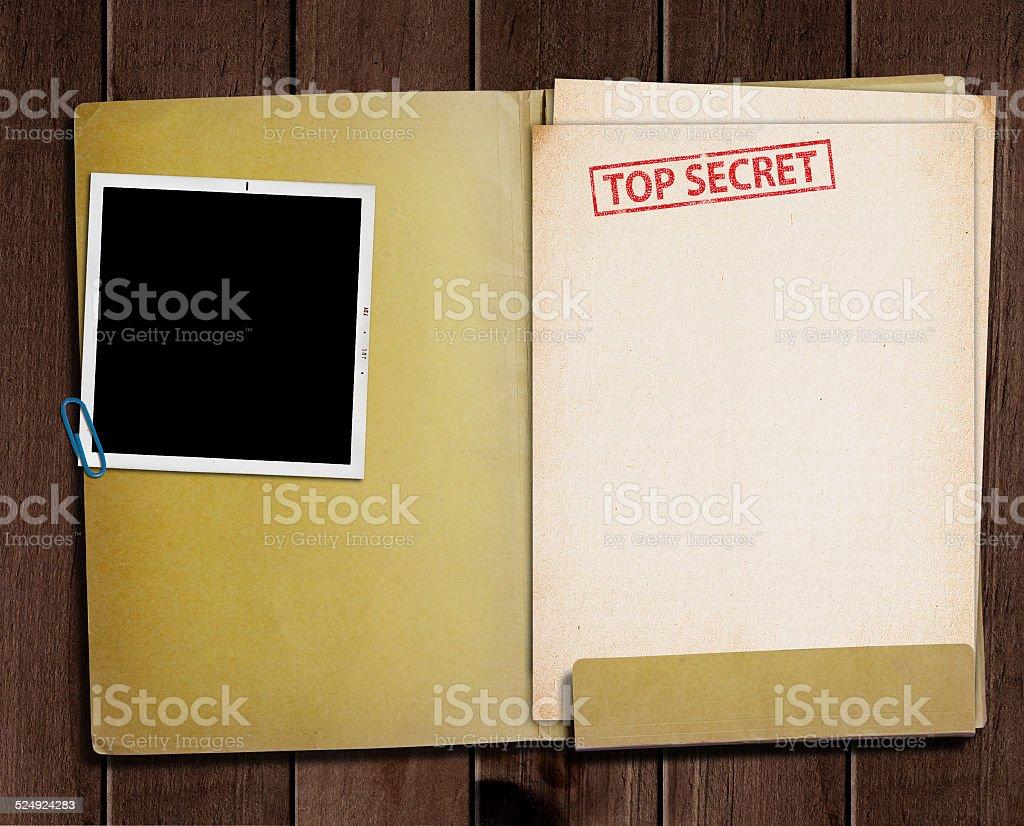 Alto secreto carpeta. - foto de stock