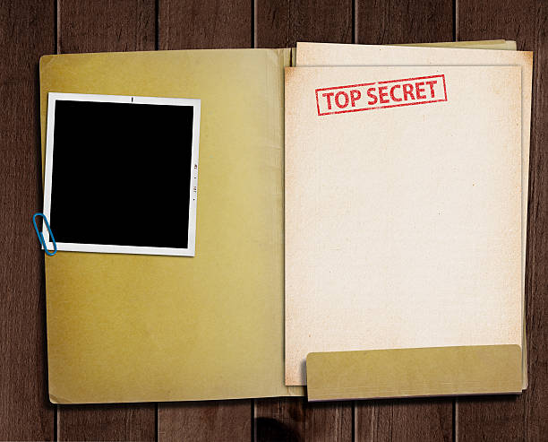 top secret folder. - file stock photos and pictures