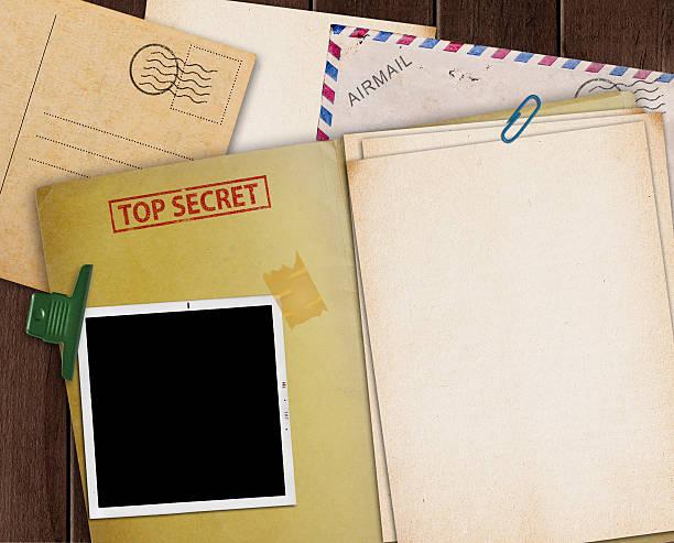Top secret folder. stock photo