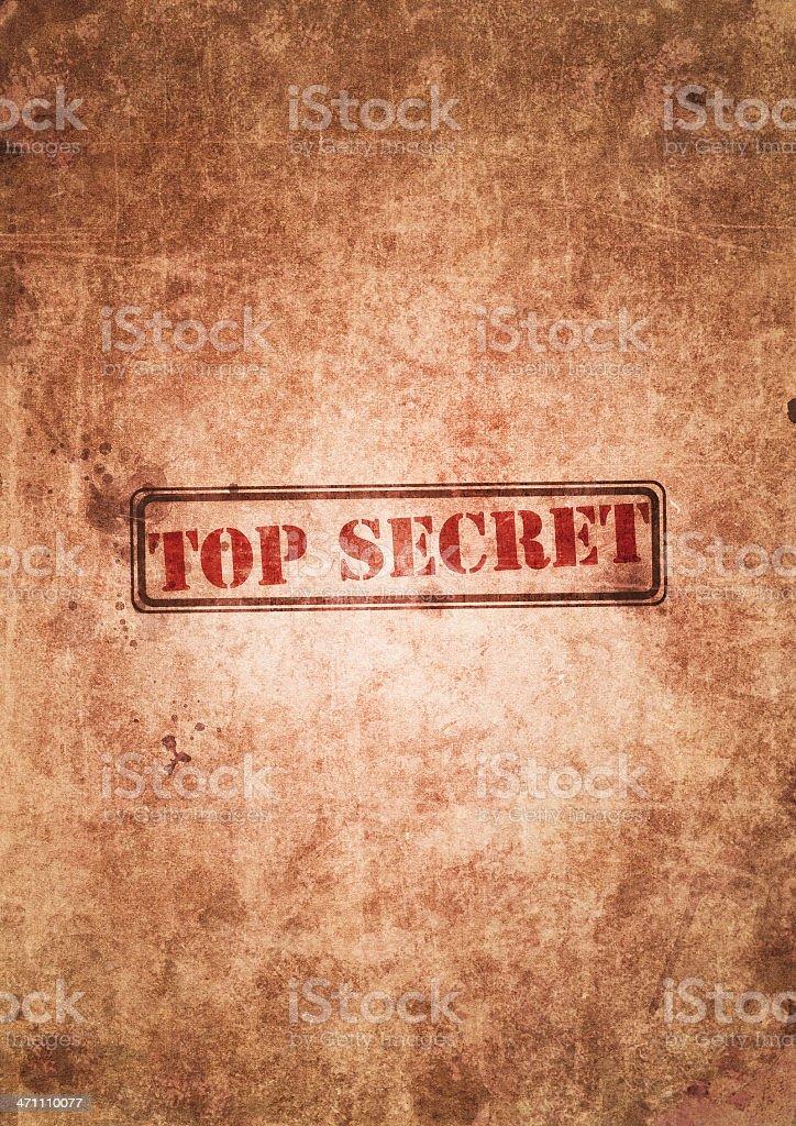 Top secret royalty-free stock photo