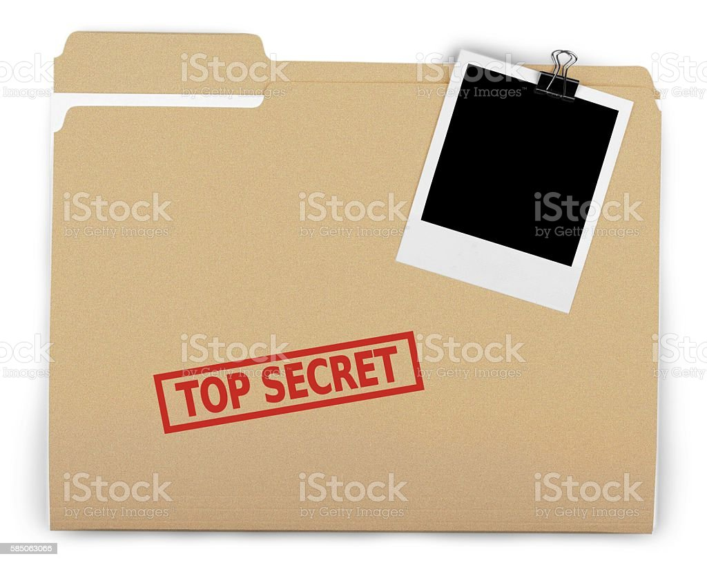 Top secret - foto de acervo