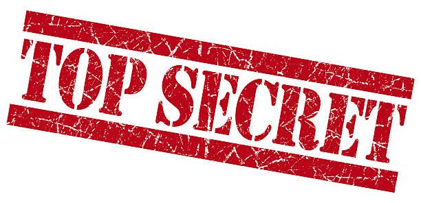 Top secret red grunge stamp stock photo