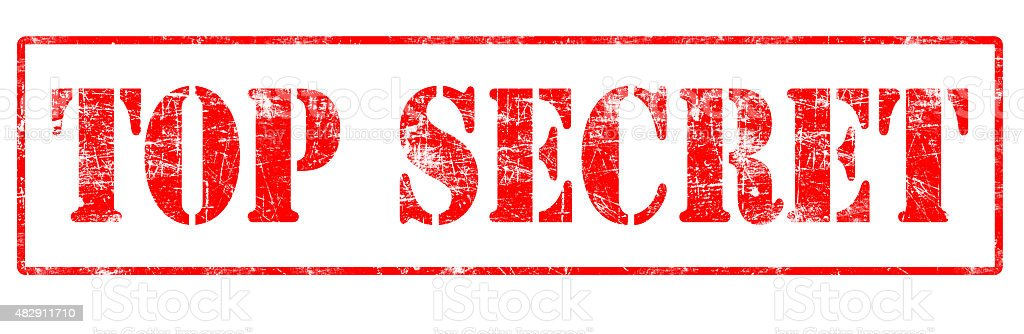 Top Secret - Rubber Stamp stock photo