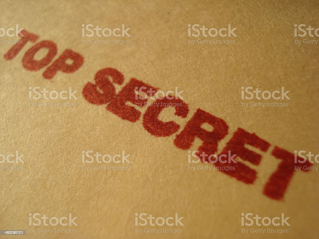 Top Secret Rubber Stamp royalty-free stock photo