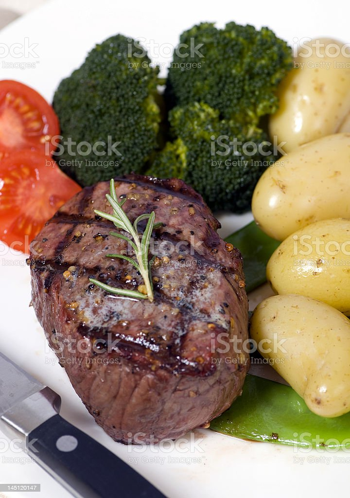 Top Sirloin Steak royalty-free stock photo