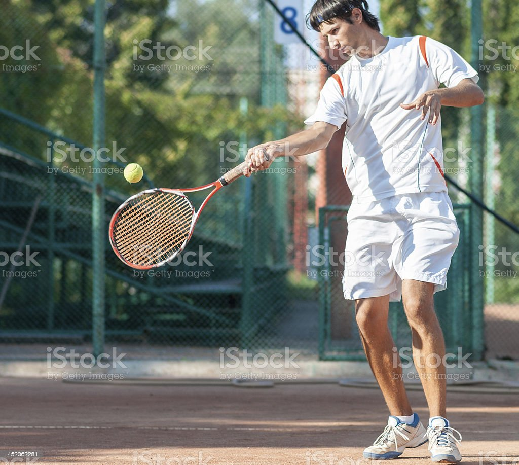 top spin forehand royalty-free stock photo