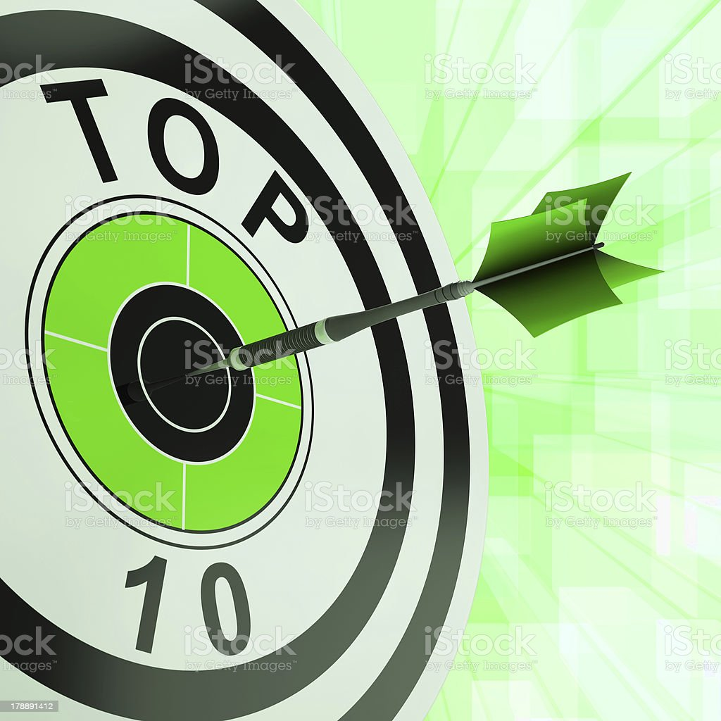 Top Ten Target Shows Successful Ranking Award royalty-free stock photo