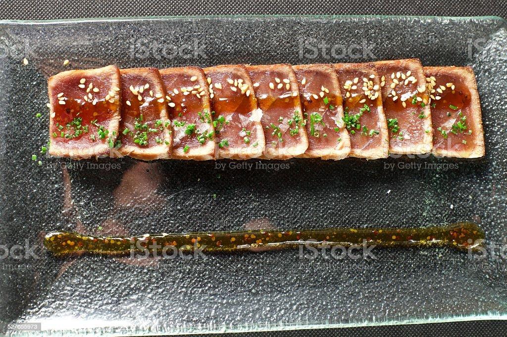 Top Tuna Tataki stock photo