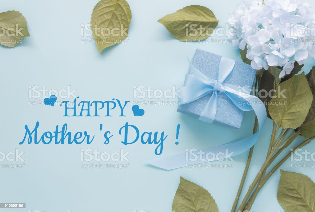 Top View Aerial Image Of Decoration Happy MotheraEURTMs Day Holiday Background Concept