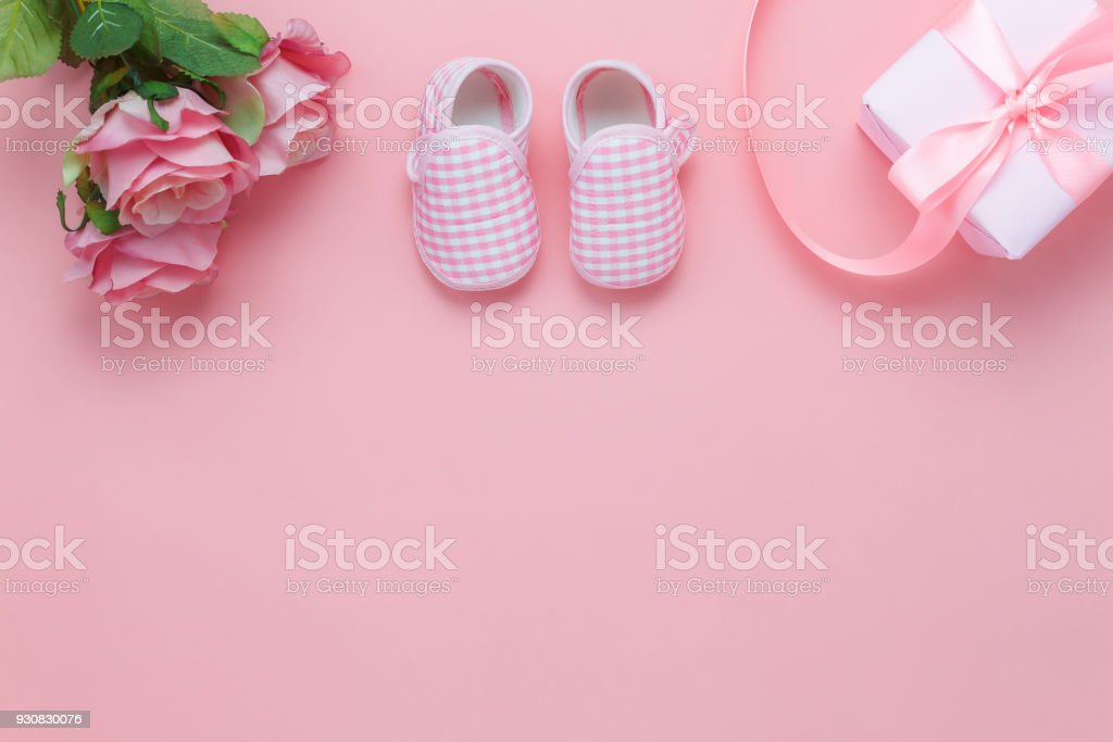 Top view aerial image of decoration Happy mother's day holiday background concept.Flat lay mom white card with blue flower on modern beautiful  blue paper at home office desk.Free space for design. stock photo