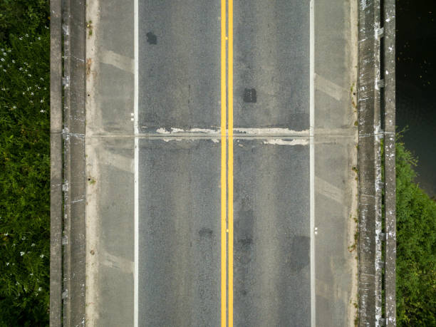 Top view at bridge Top view at bridge elevated road stock pictures, royalty-free photos & images