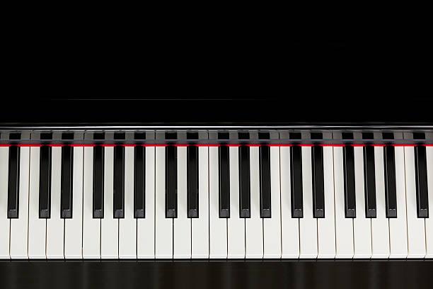 Vue du haut noir Clavier de piano - Photo