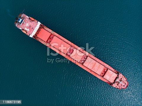 Top View Cargo Ship